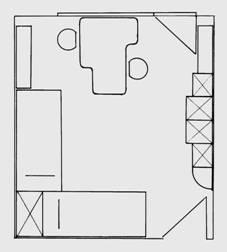 схема разположение на мебели